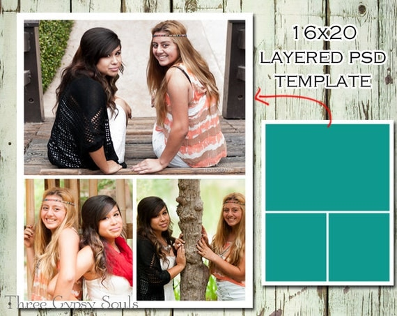 16X20 Storyboard Collage Template Layered Psd Collage Template