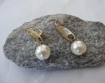Elegant  Pearl Drop Earrings