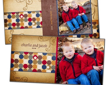 8x8 Album Template - HARLOW BOY - Digital File
