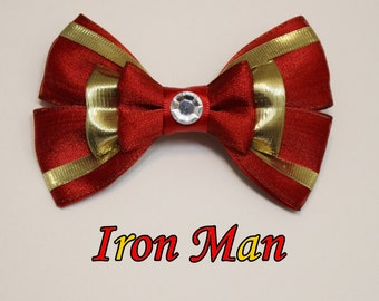 Iron Man Hair Bow