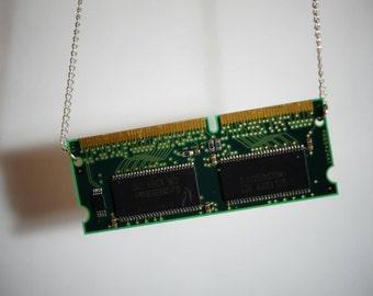 Computer R.A.M. pendant necklace.