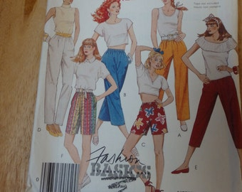 Vintage McCall's #3133 Misses' Pants and Shorts Size Tailles 10-12-14 Pattern Cut/Complete