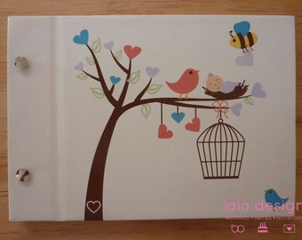 "Guest Book A5 ""Baby Nest"" for Baby Shower, New Baby, New Parents and Parties"