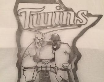 Minnesota Twins Metal Art, twins wall art