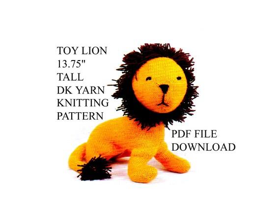 Lion Knitting Pattern : Lion Toy Knitting Pattern images
