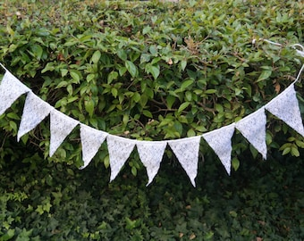 Lace Banner, Wedding Garland, Romantic Wedding Decoration