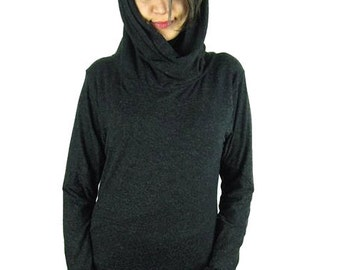 Hooded Designer Jumper Pixie Hoody Asyemetrical Jersey  Elfin Festival Tribal  clothing
