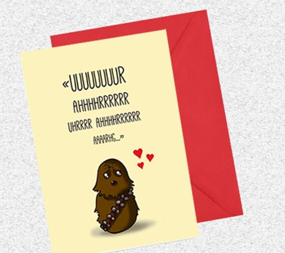 Fesselnd Items Similar To Cute Valentine Card   Chewie   I Miss You Star Wars Card  (1/2/3 Cards) On Etsy