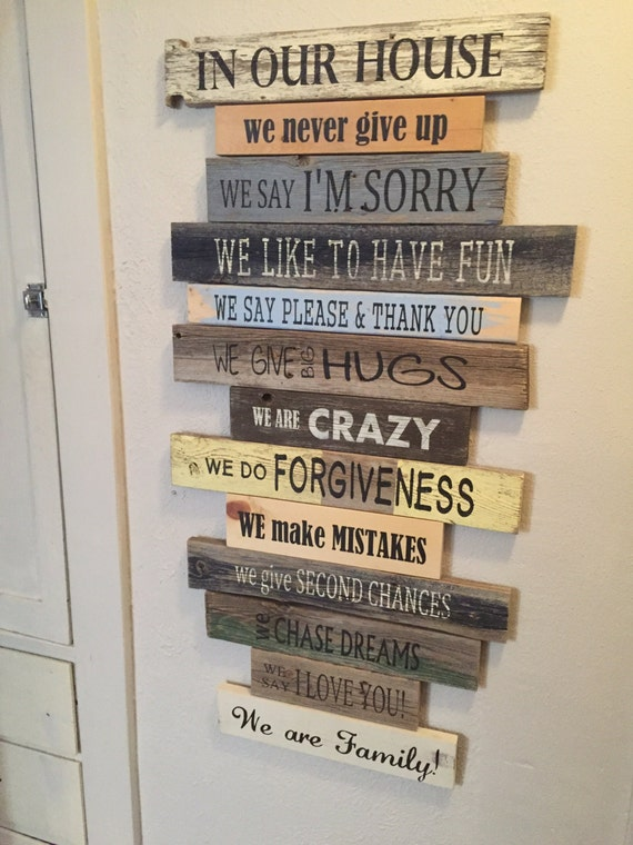 Items Similar To NEW Family RulesIn Our HouseHouse Rules Sign Customize It We Do And We