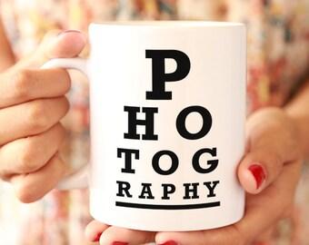 Photographer Eye Chart Ceramic Mug