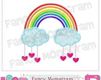 Rainbow applique,Valentine's day,Rainbow embroidery,Rainbow design,Rainbow applique,Valentine's day.-01
