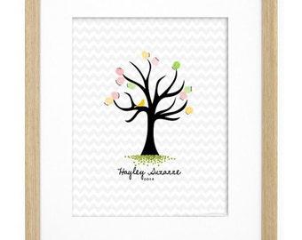 "11x14"" Custom Fingerprint Tree Digital File"