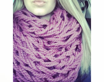 The Fig Finger Knit Infinity Scarf