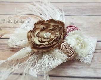 Lace girls boutique Headband-boutique-toddler-baby-persnickety-matilda jane-over the top-vintage-accesories-hair-cake smash
