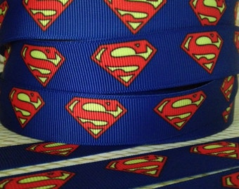 Super Hero  7/8''  (22mm)  High Quality Bright Colors Grosgrain Ribbon for Bows, Scrap booking, Sewing, Craft n more