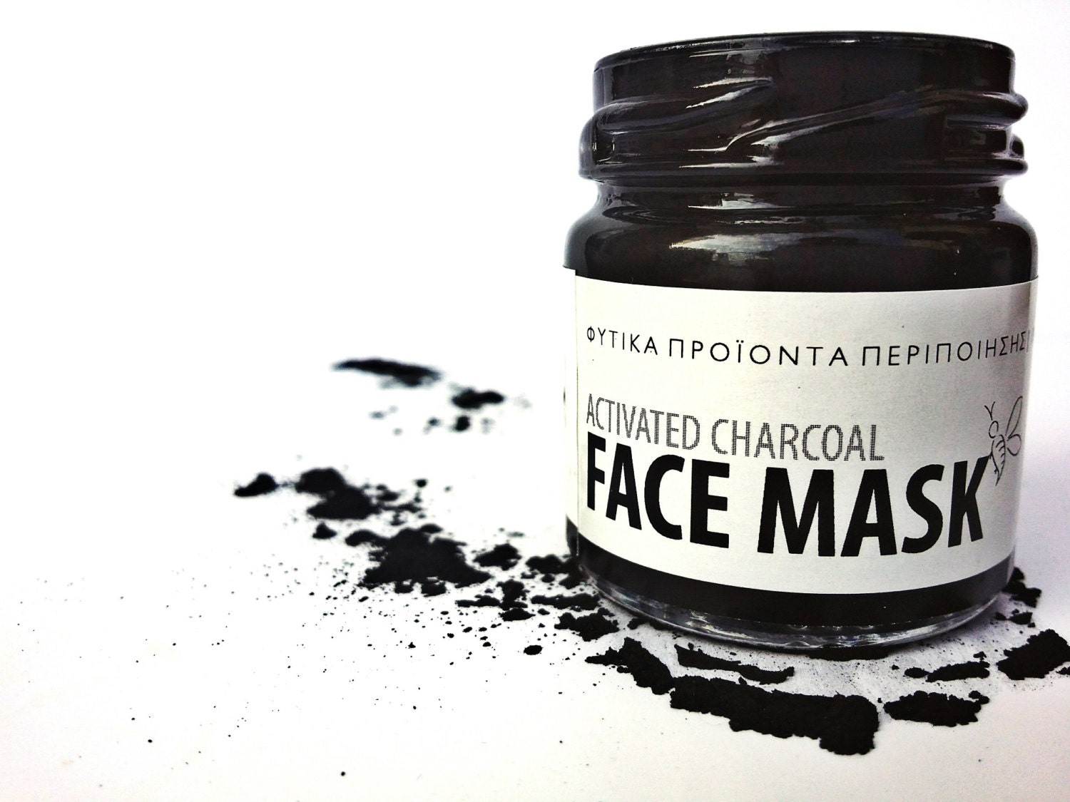 activated charcoal facial mask detox mask by thebeekeepershop. Black Bedroom Furniture Sets. Home Design Ideas