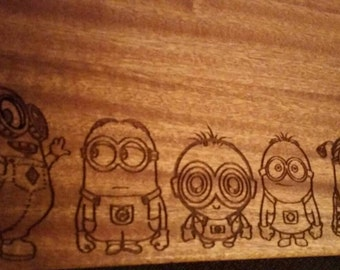 Minion Style Engraved Cutting Boards -