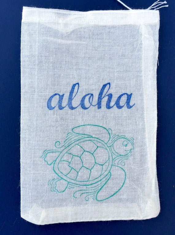 Wedding Gift Bags For Beach Wedding : 10 turtle favor bags, Hawaiian favor bags, beach wedding favors, aloha ...