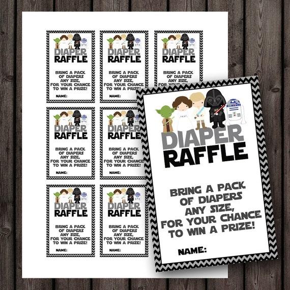 starwars baby shower diaper raffle tickets star wars baby shower