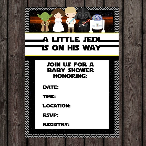 star wars baby shower invitation instant download at purchase non