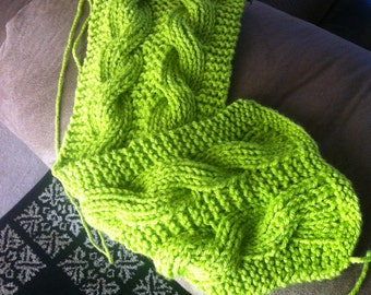 Reversible Double Cable Scarf Pattern