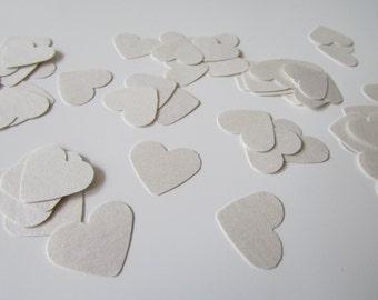 Pearl Paper Heart Confetti | Classic Wedding Confetti | Chic Wedding Confetti | Pack of 100