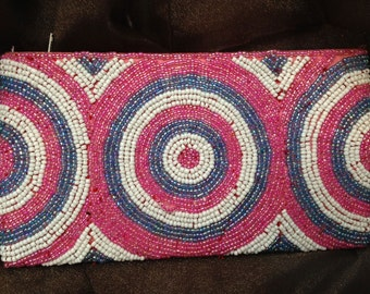 Hand Made Seed Beaded Wallet #BAG-15