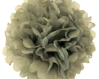 """8"""" Grey Tissue Pom Pom Party Decoration - Item:TPP080087 - Just Artifacts Brand - Visit Our Store For More Colors & Sizes"""