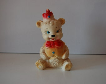 Bear squeek toy / squeaky toy / rubbertoys / made in Italy