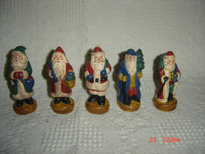 Vtg lot of memories santa figurine s