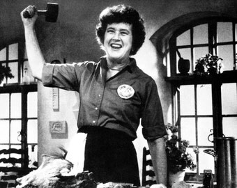 Julia Child Poster, Tenderizing Meat, Cook, Cooking, Chef, Television Host, Cooking Show