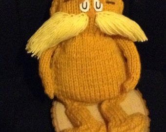 Knitted Lorax Doll