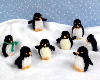 TINY PENGUINS - knitted penguin knitting pattern - Instant Digital Download - PDF