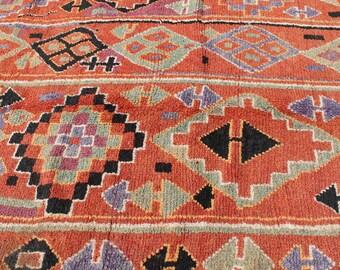 Antique Handmade 1960s Ait Bou Ichaouen Rug, Unique+Authentic Moroccan Rug