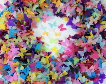 Biodegradable Butterfly Confetti Rainbow Throwing Confetti for Weddings Eco- Fill up to 10 Confetti Cones