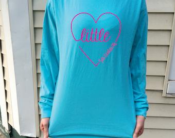 Little Script Heart Comfort Colors Long Sleeve T-Shirt