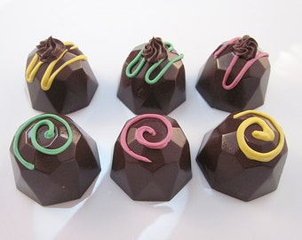 Set of 6 Fab Fake Chocolate Bon Bons Looks Real
