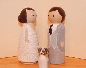 Personalised Wooden Cake Toppers with pet! Dog and cat on your cake