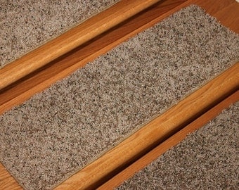 """8""""x24"""" Dog Assist Carpet Stair Treads - PAINTED TAN - Sets of 3,6, 9 or 12 -16 Available"""