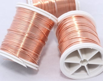 18, 20, 24 , 28  Copper Wire - Dead soft wire ,wrapping Wire, Artistic Wire - Making Wire - You Pick Gauge - 100% Guarantee - Round wire