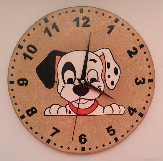 Dalmata Clock Puppy Kids Room Modern Wall Clock Wooden Wall
