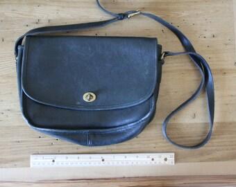 Black Vintage Leather Coach Bag
