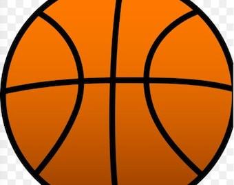 Basketball Wooden Door Hanger