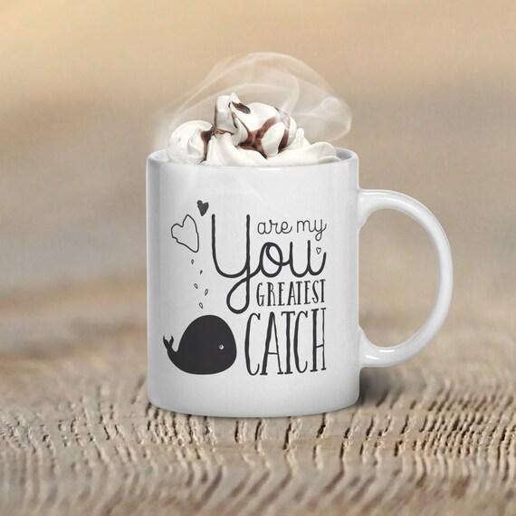 Valentines Day Mug Whale Coffee Mug Cute Coffee Mug By GulfRoad