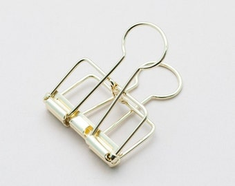 Medium Gold Binder Clip — Frame Clip — Perfect For Securing Papers