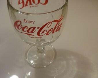 Vintage Coke Coca-Cola Goblet Glass ~~ Very Nice
