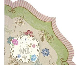 Meri Meri Love in the Afternoon Napkins. FREE P&P