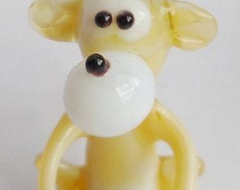 "Handmade Art Glass Figurine ""Monkey"""