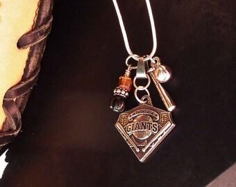 San Francisco Giants Necklace; Black and Orange; Baseball; SF Giants Jewelry; Sports Jewelry; Baseball Jewelry; World Series; MLB; SF Giants