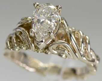 14kw Gold and Diamond Engagement Ring